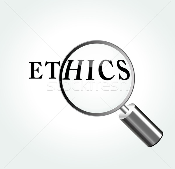 Vector ethics concept illustration Stock photo © nickylarson974