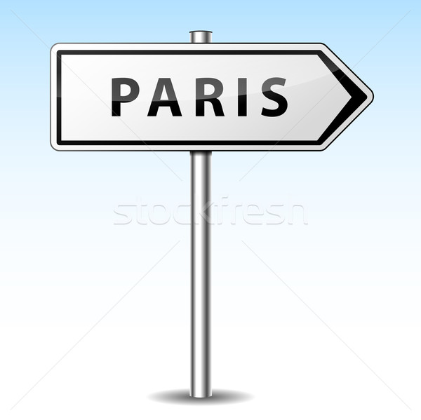 Stock photo: Vector paris directional sign