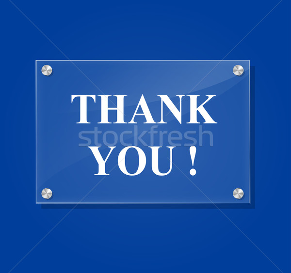 Stock photo: Vector thank you sign