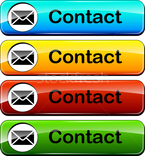mail contact web buttons Stock photo © nickylarson974