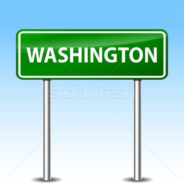 washington sign Stock photo © nickylarson974