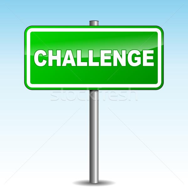 вектора вызов указатель зеленый небе бизнеса Сток-фото © nickylarson974