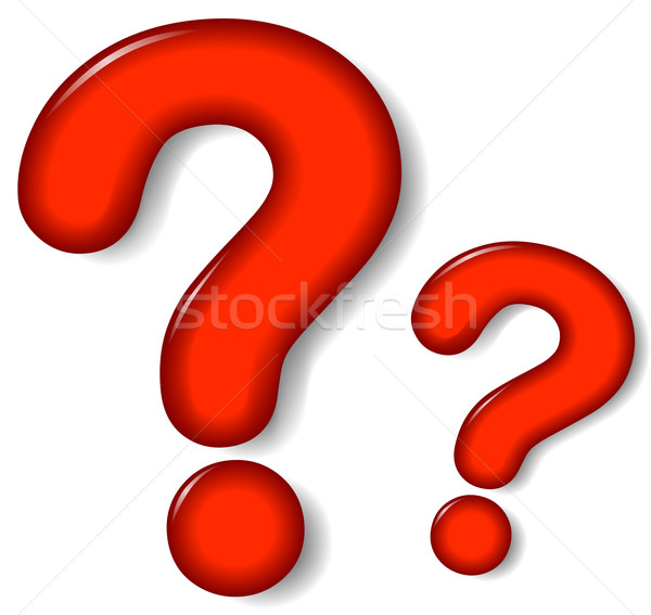 Vector question mark sign Stock photo © nickylarson974