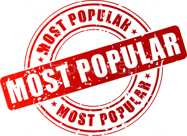 Vector most popular stamp Stock photo © nickylarson974