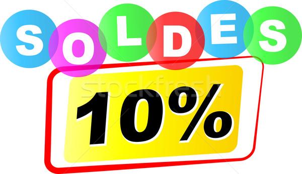 вектора продажи икона десять процент белый Сток-фото © nickylarson974