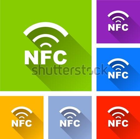 Vector wlan icons Stock photo © nickylarson974