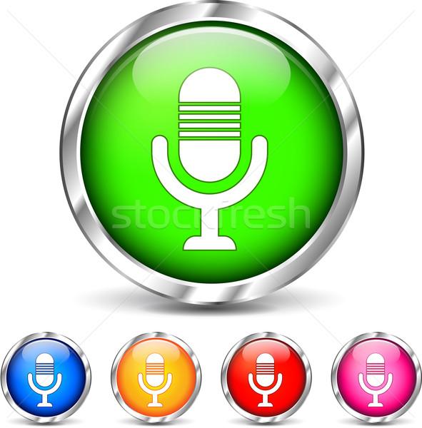 microphone set icons Stock photo © nickylarson974
