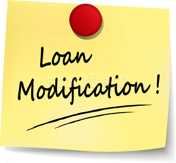 loan modification note  Stock photo © nickylarson974
