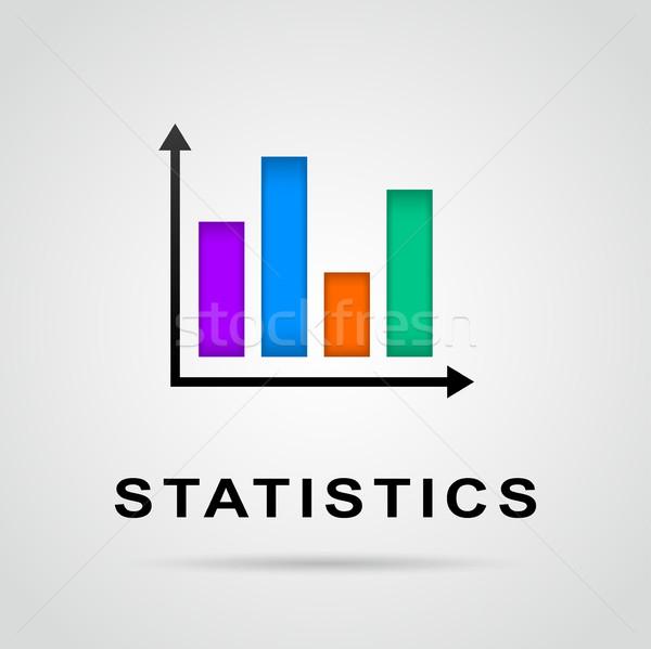 Foto stock: Estatística · barras · gráfico · ícone · ilustração · colorido