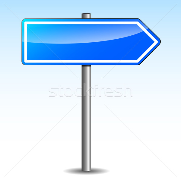 Stock photo: Vector blue directional signpost