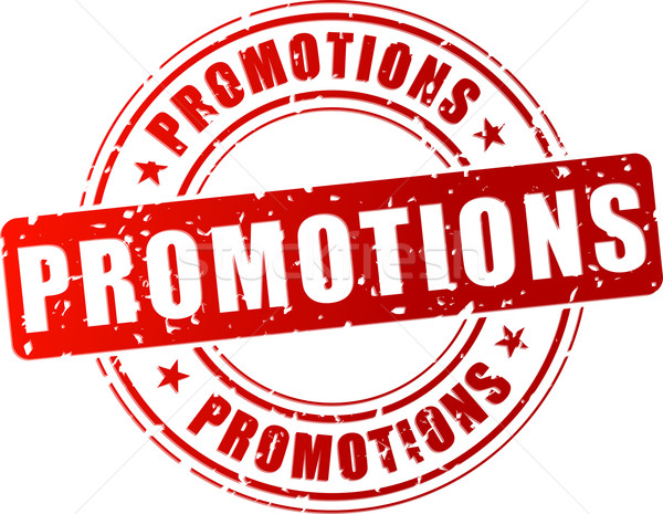 Vector promotional red stamp Stock photo © nickylarson974