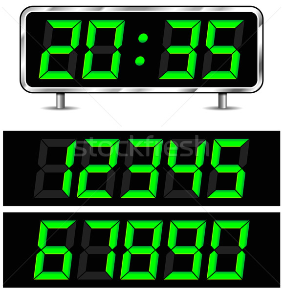 Vector digital clock Stock photo © nickylarson974