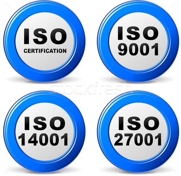 Vector iso certification icons Stock photo © nickylarson974