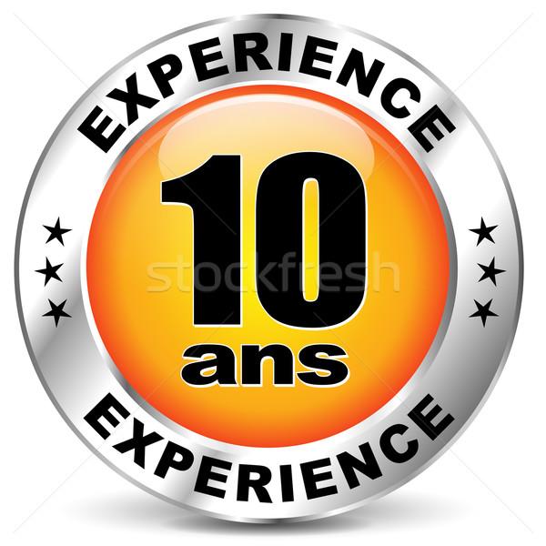 Vettore esperienza etichetta icona francese traduzione Foto d'archivio © nickylarson974