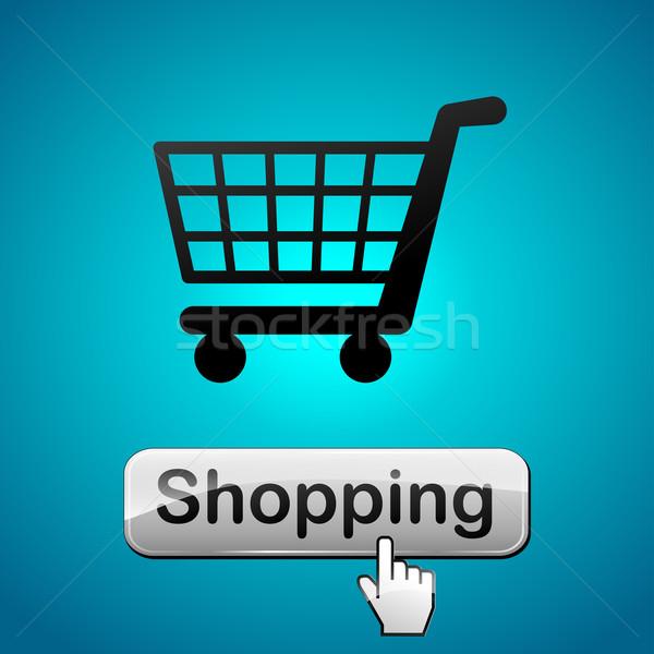 ショッピング webボタン 実例 カート デザイン 背景 ストックフォト © nickylarson974