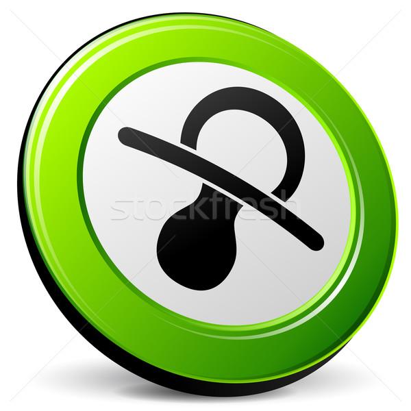 Emzik 3D ikon örnek beyaz Internet Stok fotoğraf © nickylarson974