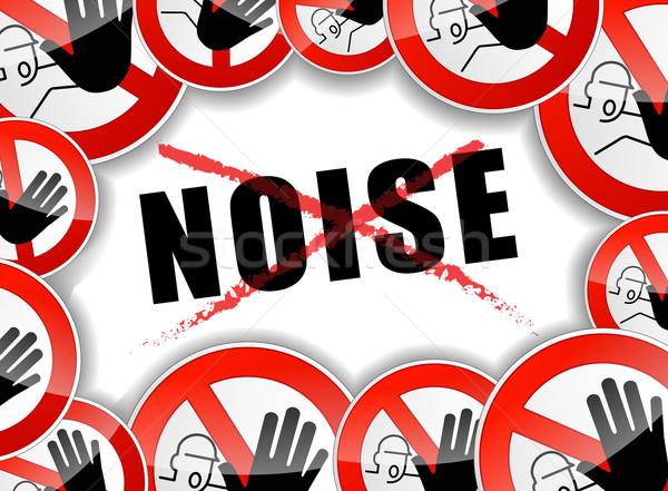 Nem zaj absztrakt illusztráció háttér felirat Stock fotó © nickylarson974