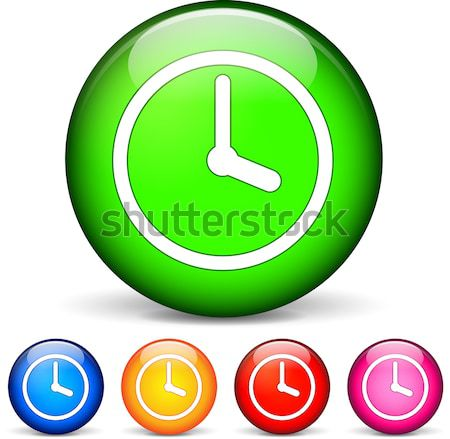 clock icon Stock photo © nickylarson974
