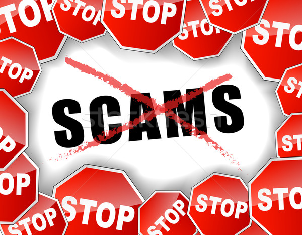 Stop scams concept Stock photo © nickylarson974