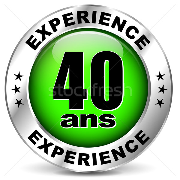 Vierzig Jahre Erfahrung Symbol weiß Geburtstag Stock foto © nickylarson974