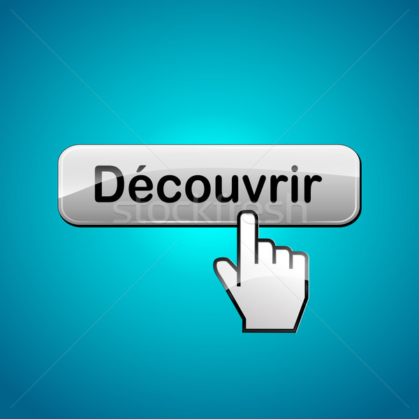 Vector discover button Stock photo © nickylarson974