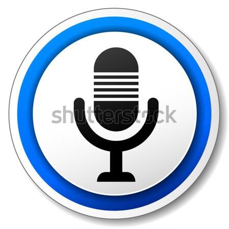 Vector microphone icon Stock photo © nickylarson974