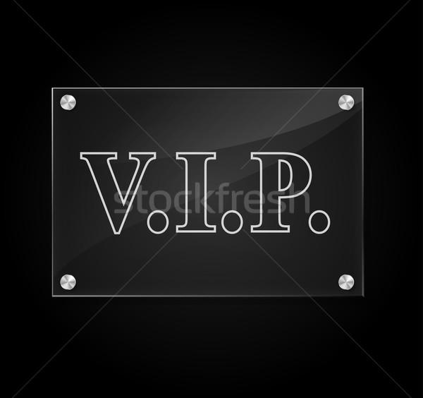 Vettore vip segno trasparente nero design Foto d'archivio © nickylarson974