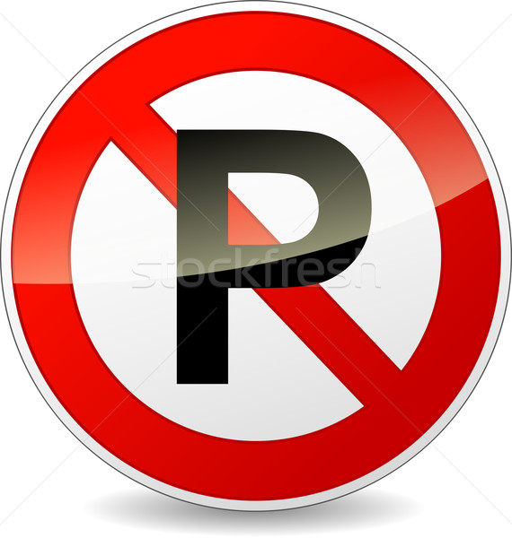 Vector no parking sign Stock photo © nickylarson974