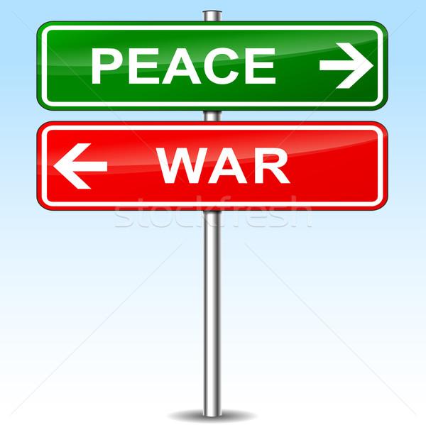 Barış savaş imzalamak örnek yol soyut Stok fotoğraf © nickylarson974