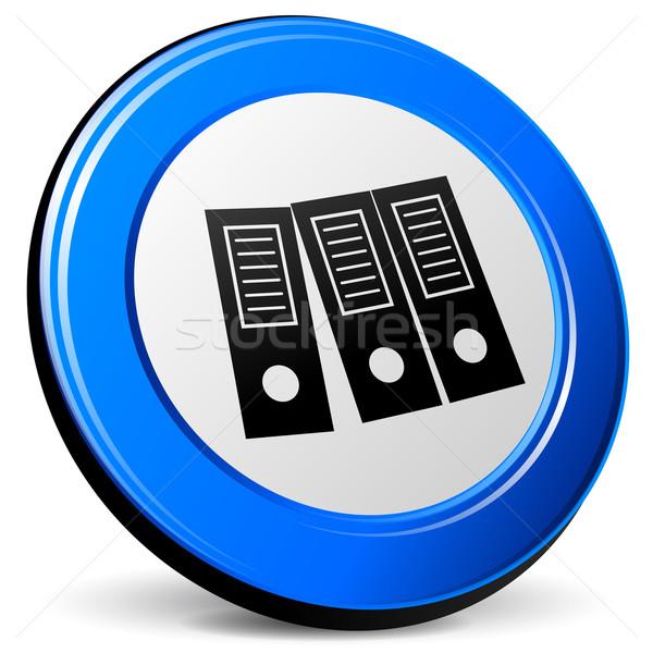 Ikon örnek 3D mavi dizayn Internet Stok fotoğraf © nickylarson974