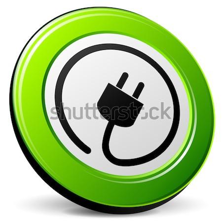 электроэнергии синий икона иллюстрация дизайна 3D Сток-фото © nickylarson974