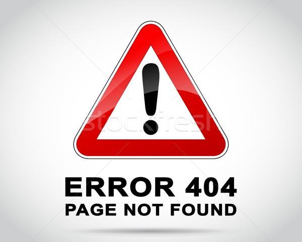 Site erreur illustration design ordinateur route Photo stock © nickylarson974