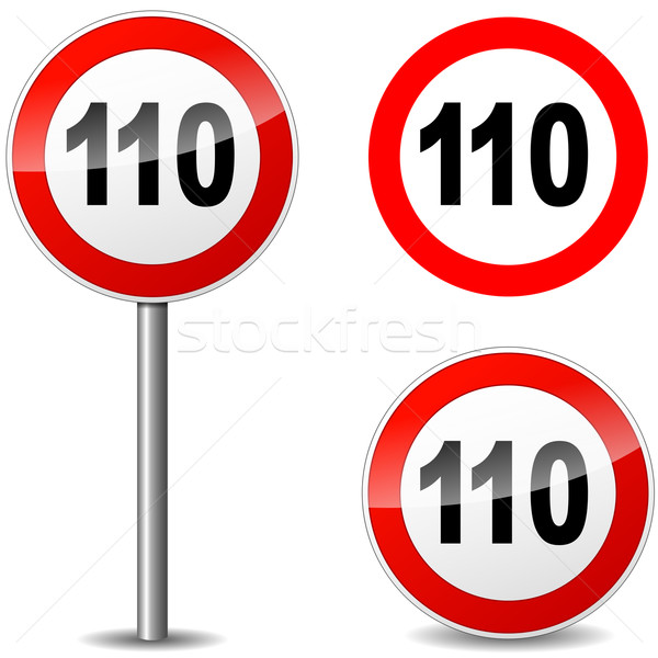 Vector hundred ten sign Stock photo © nickylarson974