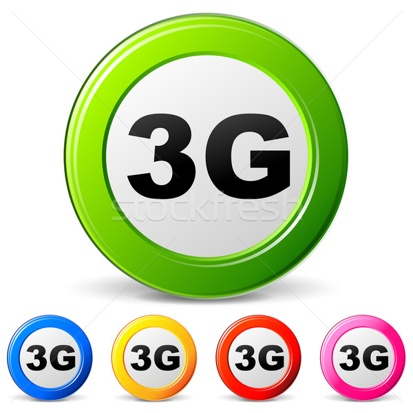 Vector iconen 3g witte internet technologie Stockfoto © nickylarson974