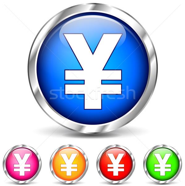 yen icons Stock photo © nickylarson974