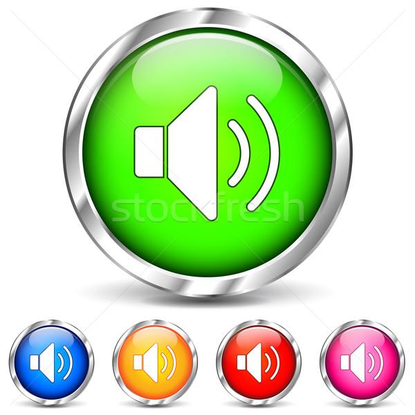 Vetor cromo soar ícones branco música Foto stock © nickylarson974