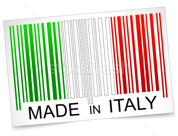 Made in italy barcode Stock photo © nickylarson974