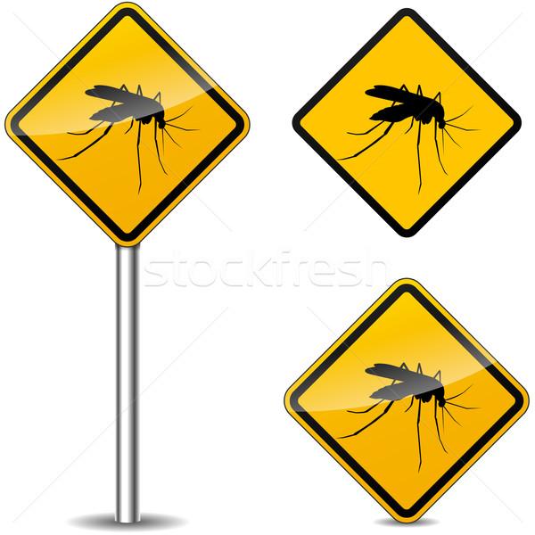 Vettore zanzara giallo segni bianco cielo Foto d'archivio © nickylarson974