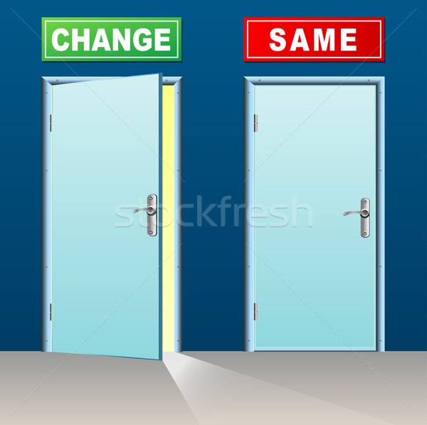 change and same doors Stock photo © nickylarson974