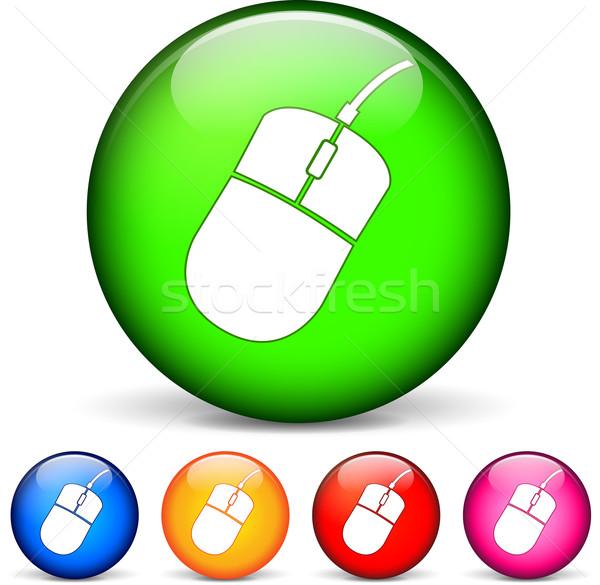 Компьютерная мышь иконки круга мыши Сток-фото © nickylarson974