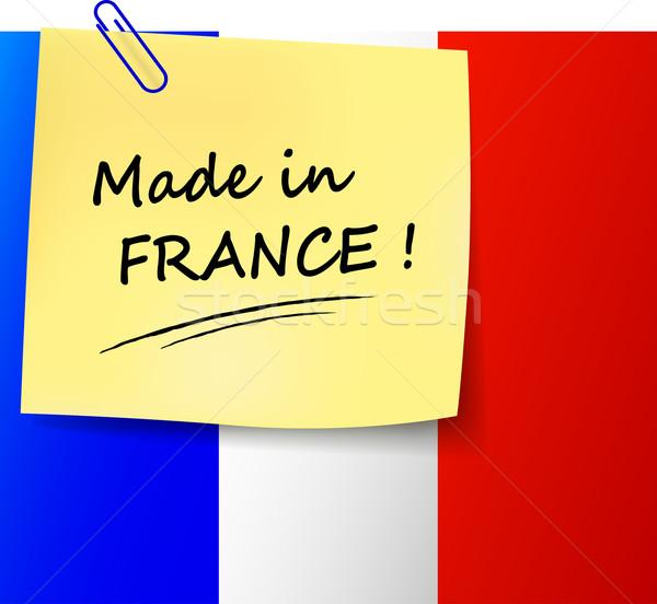 Франция знак иллюстрация бумаги Сток-фото © nickylarson974