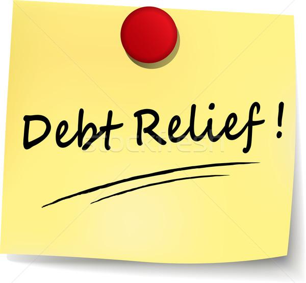 debt relief yellow note Stock photo © nickylarson974