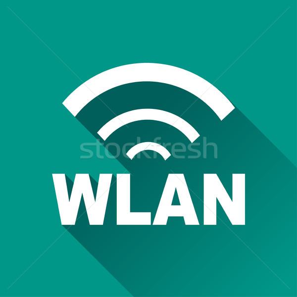 wlan design icon Stock photo © nickylarson974