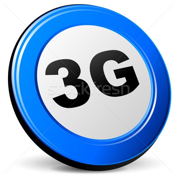 вектора 3g икона белый технологий знак Сток-фото © nickylarson974