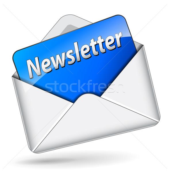 Vector newsletter icon Stock photo © nickylarson974