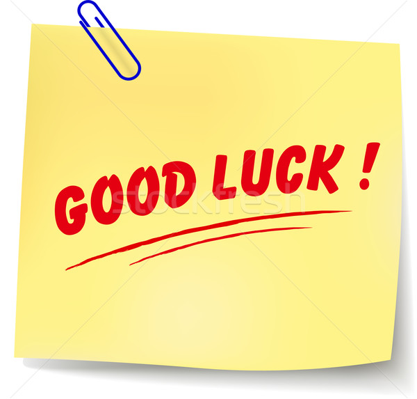 Vector good luck message Stock photo © nickylarson974