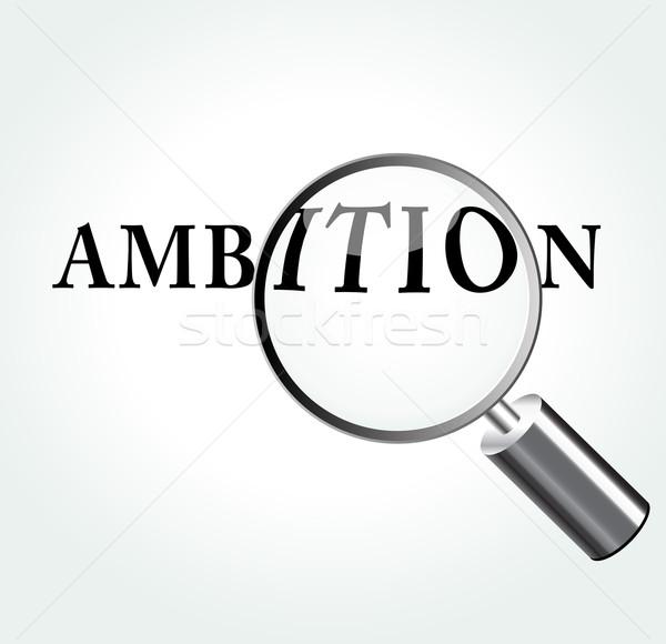 Vector ambitie illustratie vergrootglas abstract ontwerp Stockfoto © nickylarson974