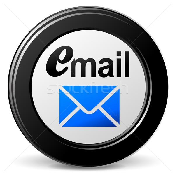 Vektor email ikon fehér internet technológia Stock fotó © nickylarson974