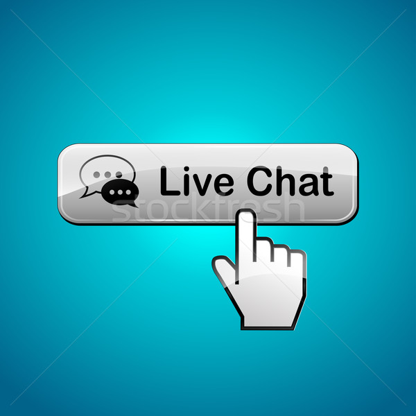Live chat button Stock photo © nickylarson974