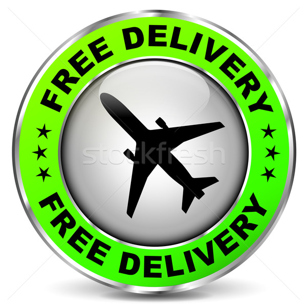 бесплатная доставка дизайна икона иллюстрация самолет круга Сток-фото © nickylarson974